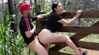 SexMex Fucking step mom in the woods